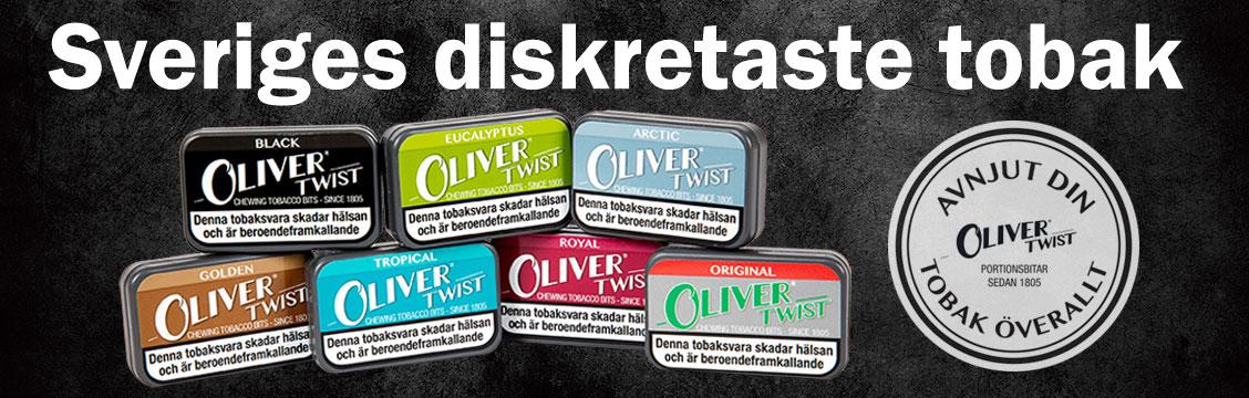 Oliver Twist Portionsbitar - Billig Tuggtobak