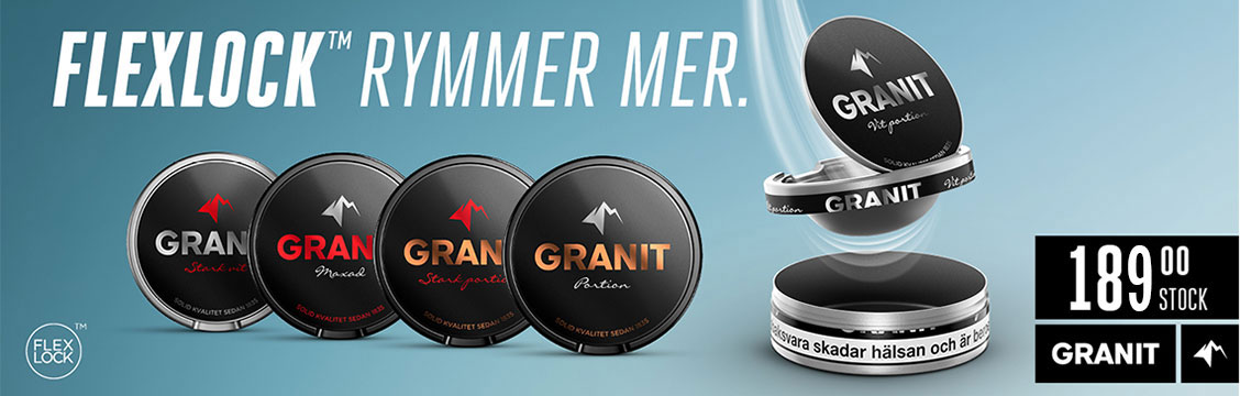 Granit Portion Flexlock - Billigt Snus Online