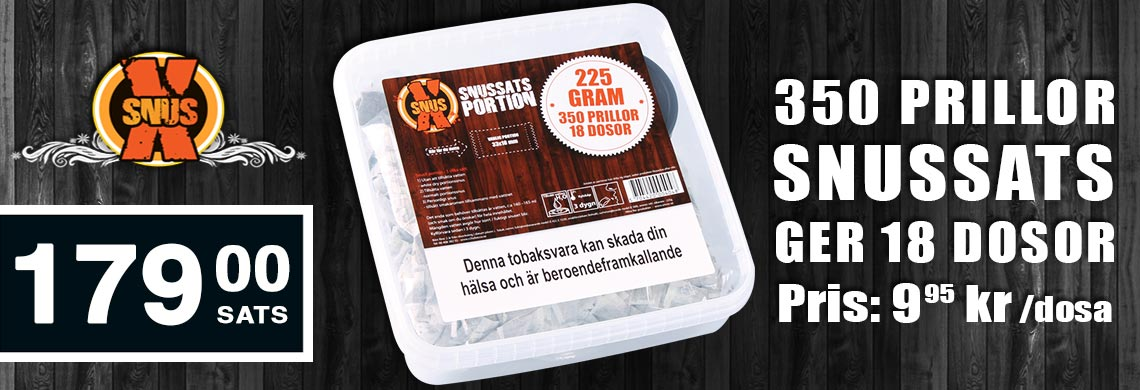 SnusX Portion 350   Billigt snus online