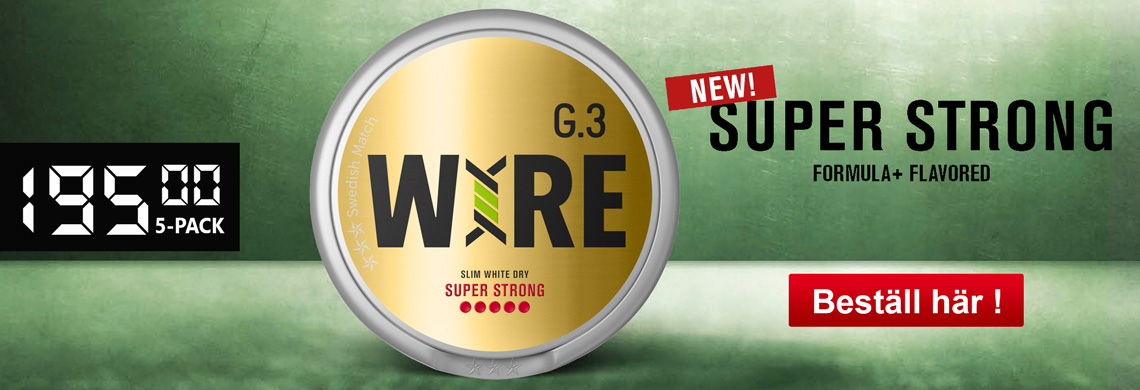 Nyhet General G3 WIRE Super Strong Slim White Dry