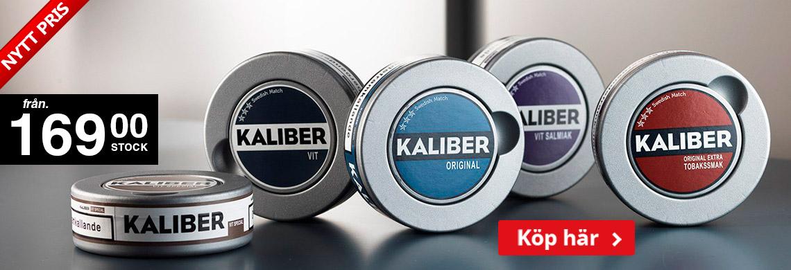 Kaliber Portionssnus - Köp 30-pack - 169 kr /Stock