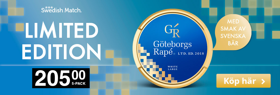 Göteborgs Rape Limited Edition 2018 - Billigt Snus Online