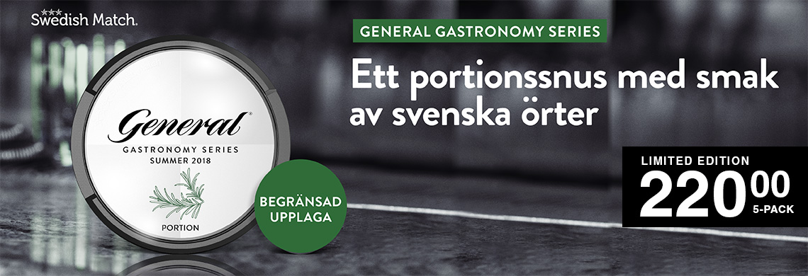 General Gastronomy Summer 2018 - Billigt Snus Online