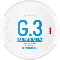 General G3 Super Slim Mint Strong White Portion