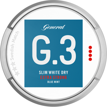 General G3 Mint Extra Strong Slim White Dry Portion
