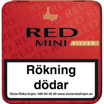 Villiger Red Mini Filter 20p Cigarill