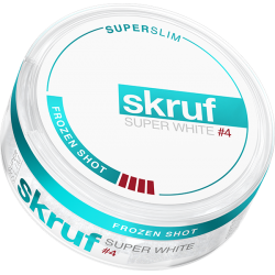 Skruf Super White Frozen Shot Superslim