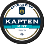 Kapten Extra Stark Mint Vit Portion