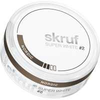 Skruf Super White Slim Nordic
