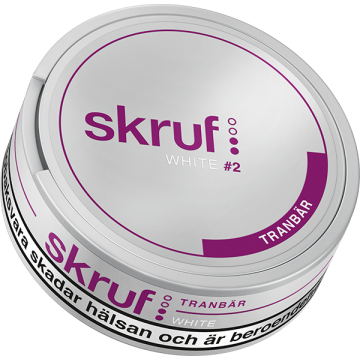 Skruf Tranbär White Portion