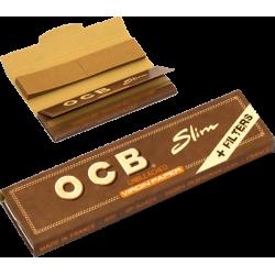 OCB Slim Unbleached +Filter Rullpapper