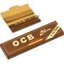 OCB Slim Unbleached +Filter Rullpapper