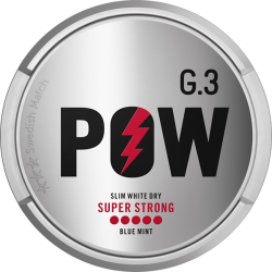G3 POW Super Strong Slim White Dry Portion