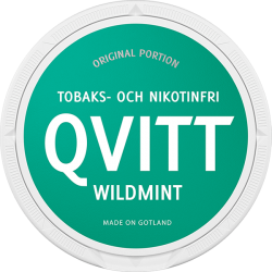 Qvitt Wild Mint Nikotinfri Portion
