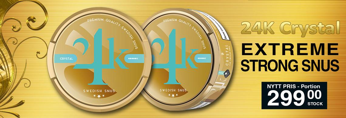 24K Crystal X-Strong Portionssnus | Billigt snus online