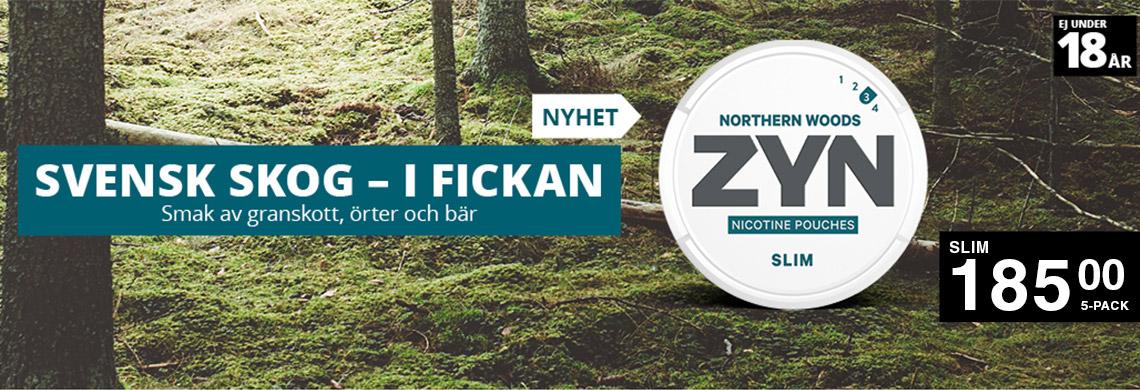 ZYN Northern Woods Slim - Billigt Snus Online