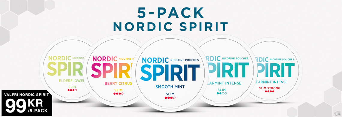 Nordic Spirit All White Snus 5-pack 99Kr - Billigt Snus Online