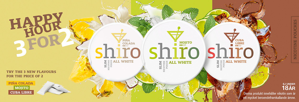 Shiro - All White 3-Mixpack