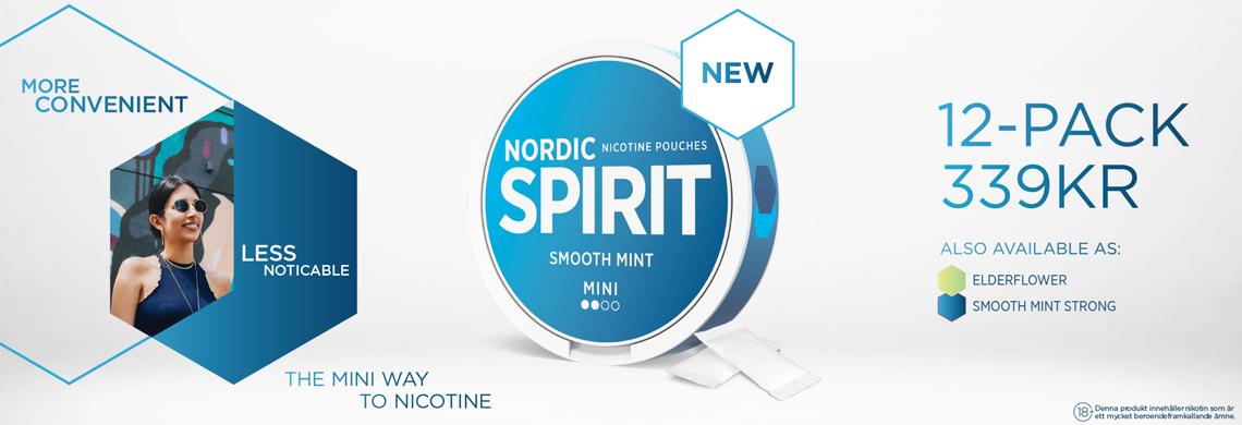 Nordic Spirit Mini All White 12-Pack - Billigt Snus Online