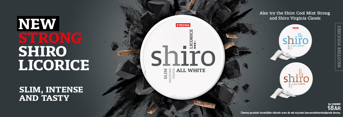 Nyhet - Shiro Licorice All White - Billigt Snus Online