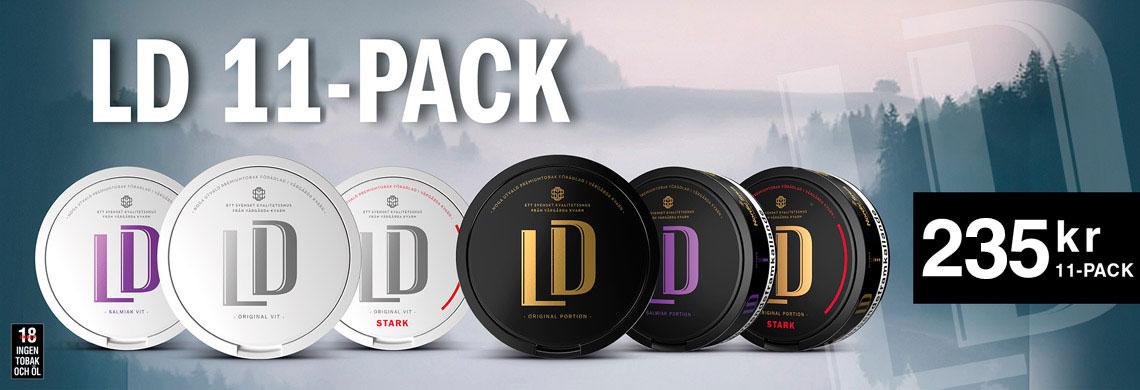 LD Portionssnus 11-Pack - Billigt Snus Online