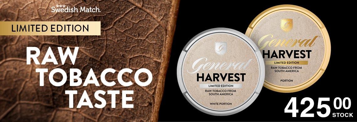 Nyhet - General Harvest Portionssnus - Billigt Snus Online