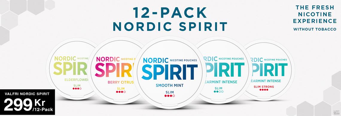 Nordic Spirit 12-pack 299Kr - Billigt Snus Online