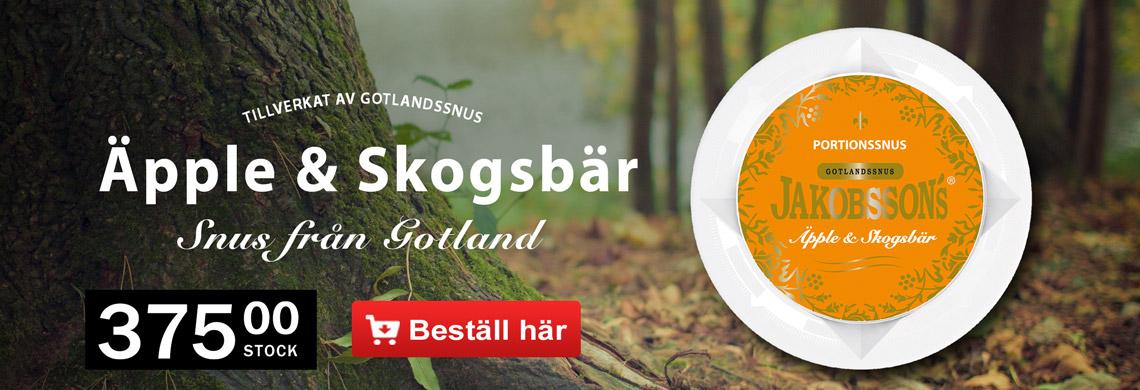 Jakobssons Äpple & Skogsbär HöstSnus - Billigt Snus Online