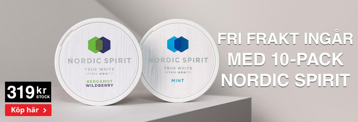 Nordic Spiri True White - Online Pris - Billigt Snus Online