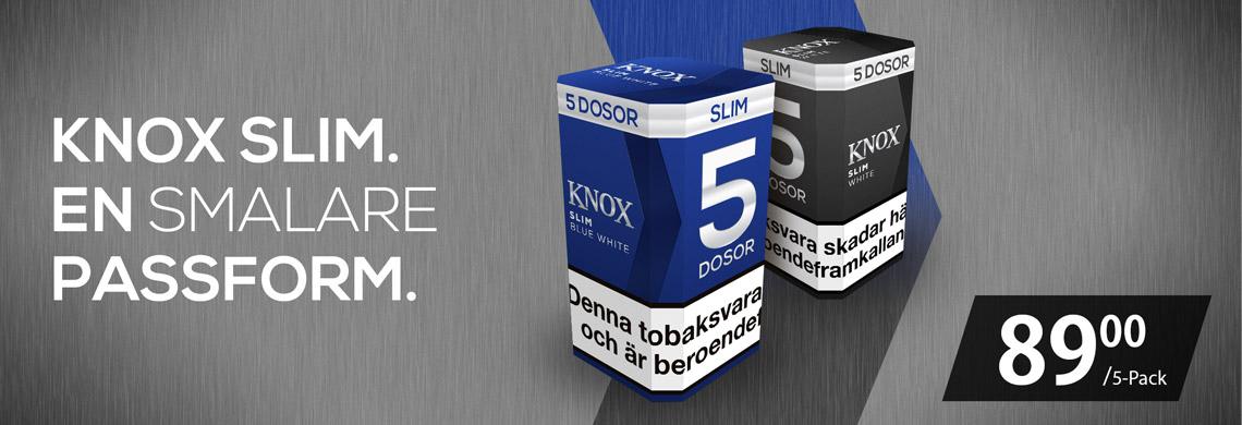 Knox Slim 5-Pack Portionssnus till låga priser - Billigt snus online