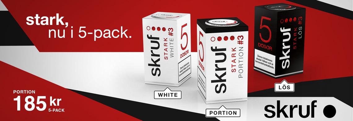 Skruf Stark 5-Pack Snus till låga priser - Billigt snus online