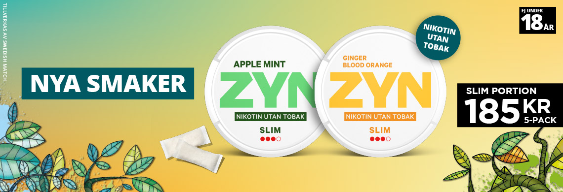 Zyn Slim Apple Mint, Blood Orange - Två nya Smaker
