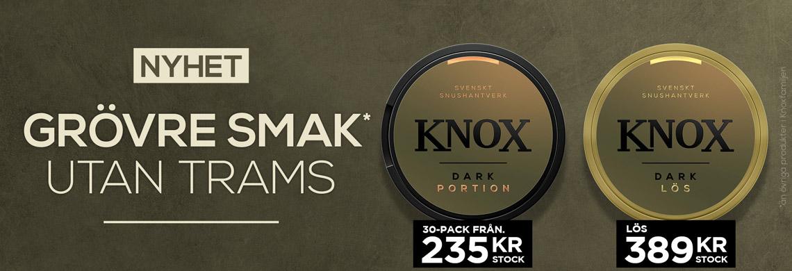 NYHET - Knox Dark Snus - Billigt snus online