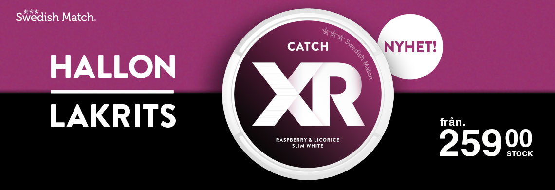 Nya XR Catch Raspberry Licorice - Online Pris - Billigt Snus Online