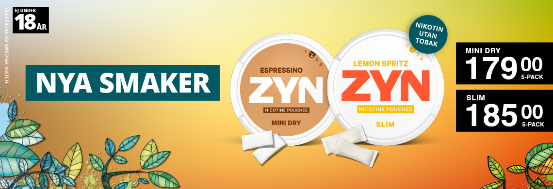 2 nya Zyn smaker - Slim Lemon Spritz & Mini Dry Espressino